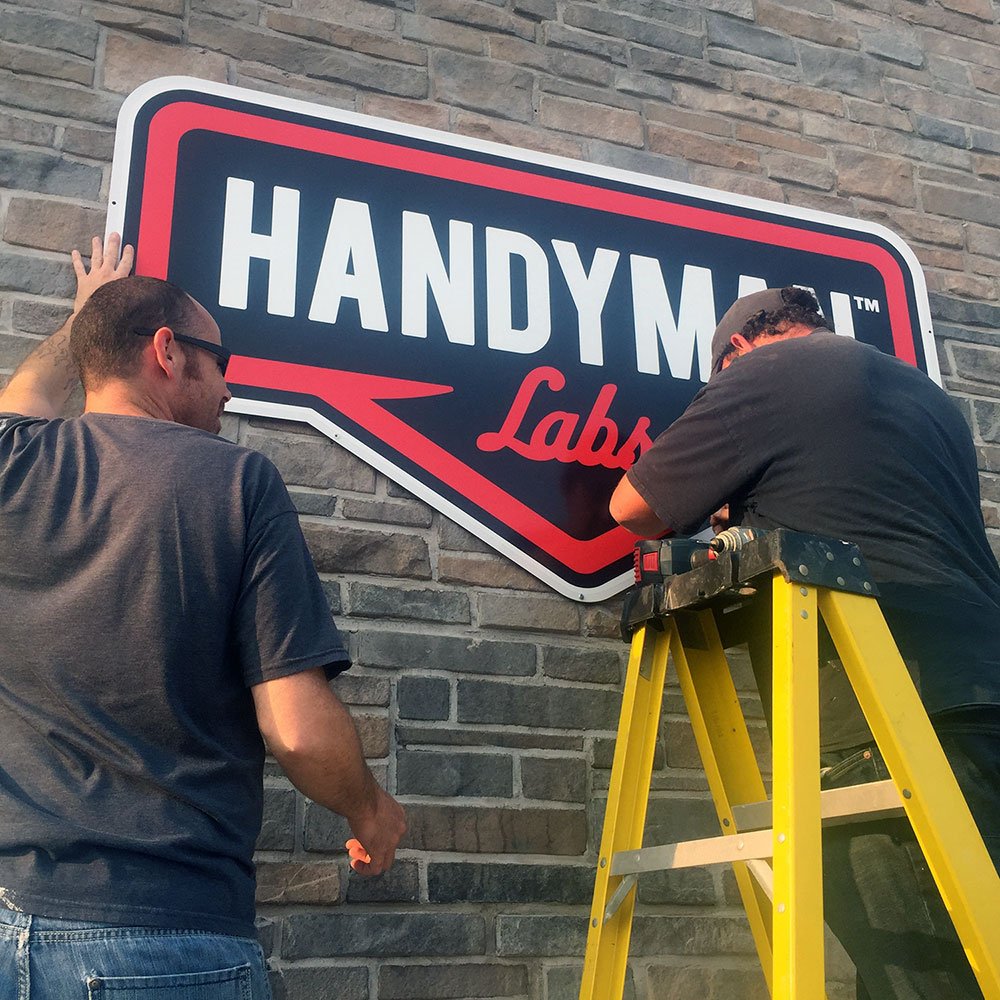 Handyman Labs - Office Sign Installation